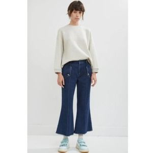 Acne Studios Flare Leg Cropped Trouser Jeans 4